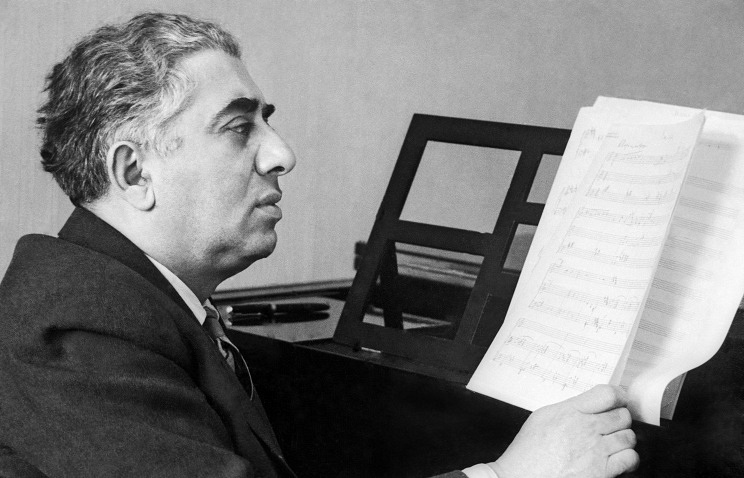 Aram Khachaturian, 1959 News in pictures TASS