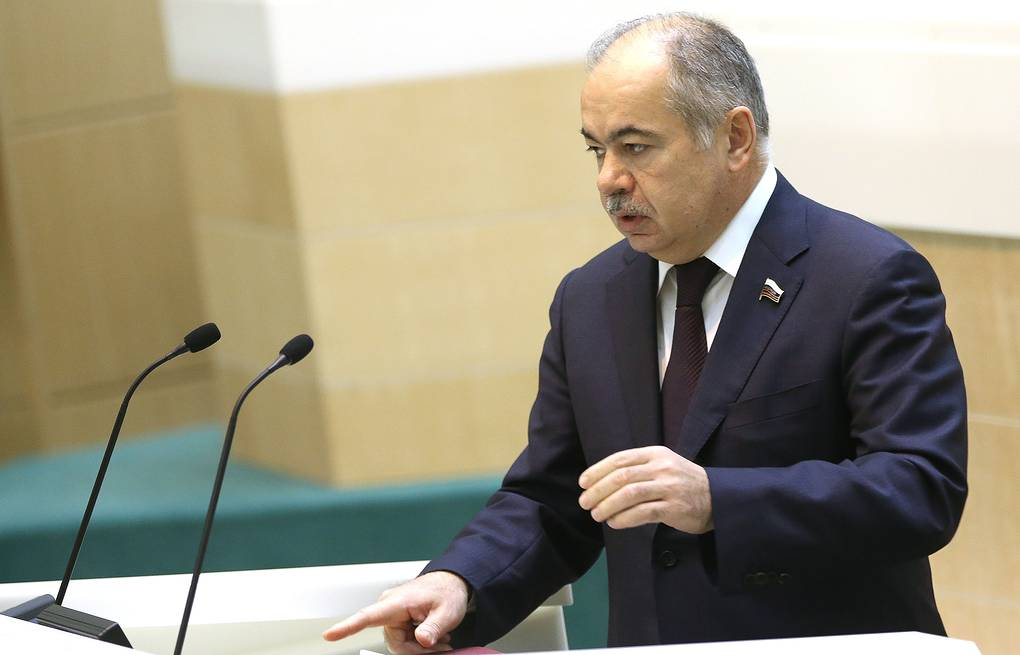 Vice speaker of the Federation Council upper house of Russian parliament Ilyas Umakhanov ITAR-TASS/Anton Novoderezhkin