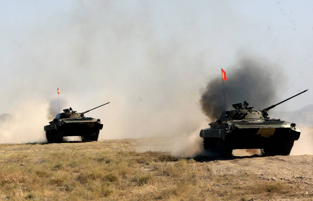 CSTO military drills at the Ala-Too firing range in 2013 EPA/ITAR-TASS/ IGOR KOVALENKO