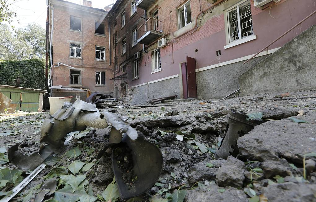 Destructions after a shelling attack on Luhansk ITAR-TASS/Valery Matytsin