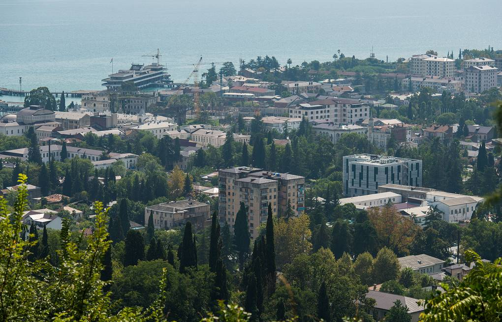 View of Sukhum, the capital of Abkhazia EPA/YEVGENY REUTOV