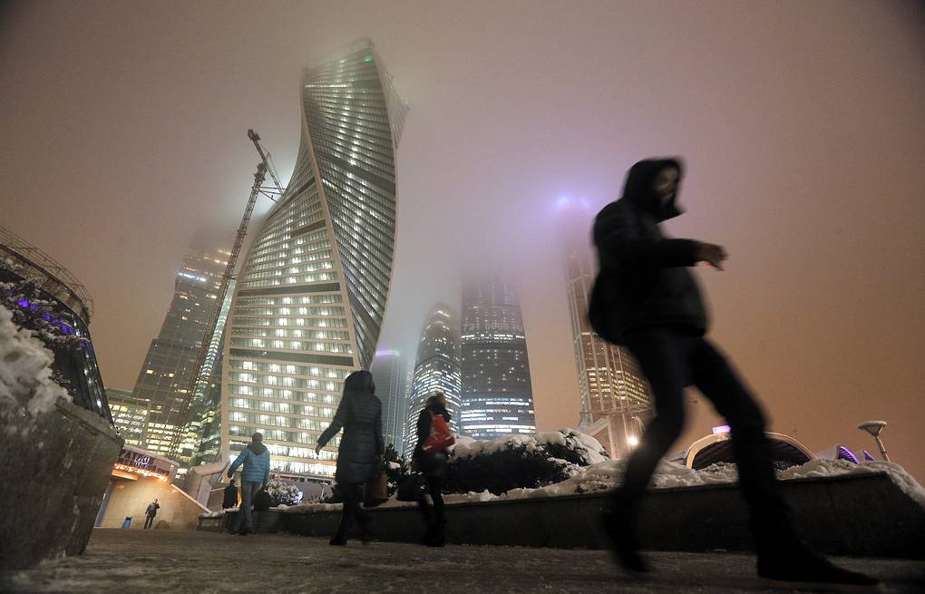 Street near the Moscow International Business Centre EPA/MAXIM SHIPENKOV
