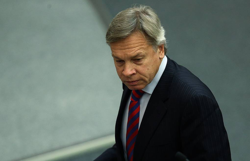 Russian State Duma International Affairs Committee chairman Alexey Pushkov Sergey Fadeichev/TASS