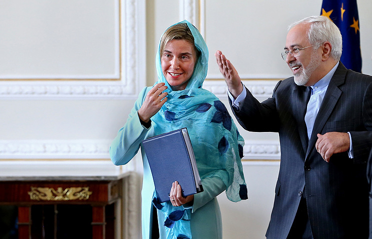 EU foreign policy chief Federica Mogherini and Iran's Foreign Minister Javad Zarif AP Photo/Ebrahim Noroozi