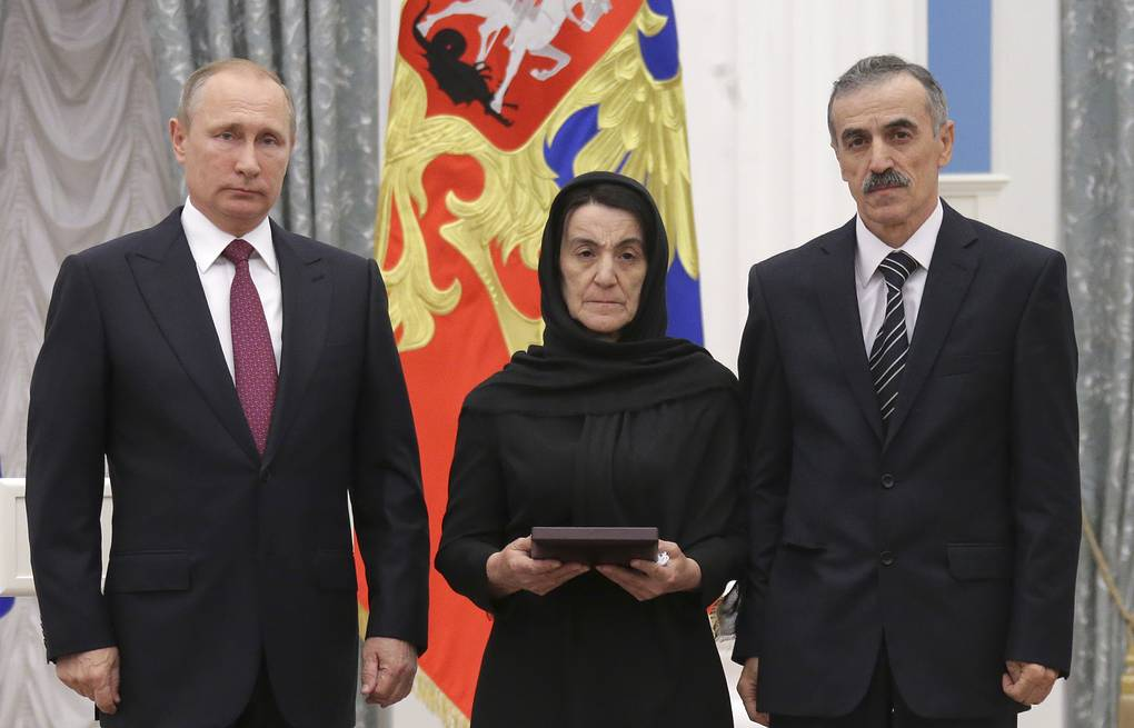 Putin Posthumously Awards Dagestan Police Officer Hero Of Russia Title Russian Politics Diplomacy Tass