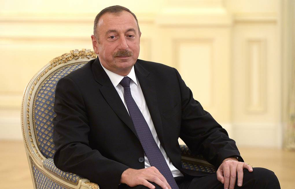 President Ilham Aliyev  Alexei Nikolsky/Russian Presidential Press and Information Office/TASS