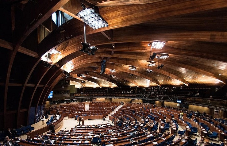 Council of Europe in Strasbourg, France EPA/PATRICK SEEGER
