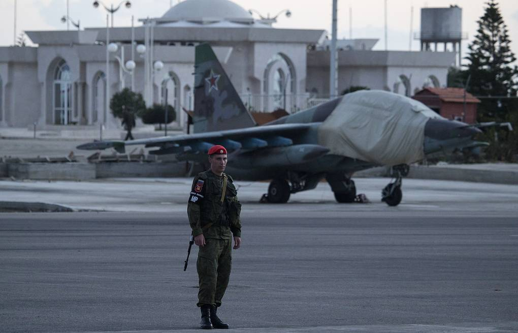 Hmeymim airbase in Syria AP Photo/Pavel Golovkin