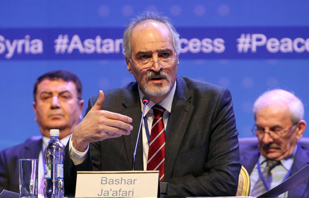 Head of the Syrian government delegation to Astana talks, Bashar Jaafari EPA/IGOR KOVALENKO