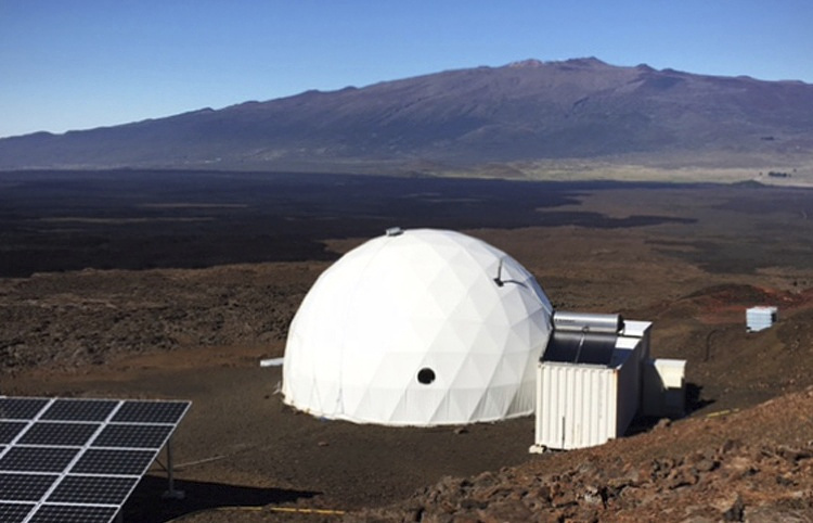 Dome called Hawaii Space Exploration Analog and Simulation, located 8,200 feet above sea level on Mauna Loa on the island of Hawaii University of Hawaii via AP