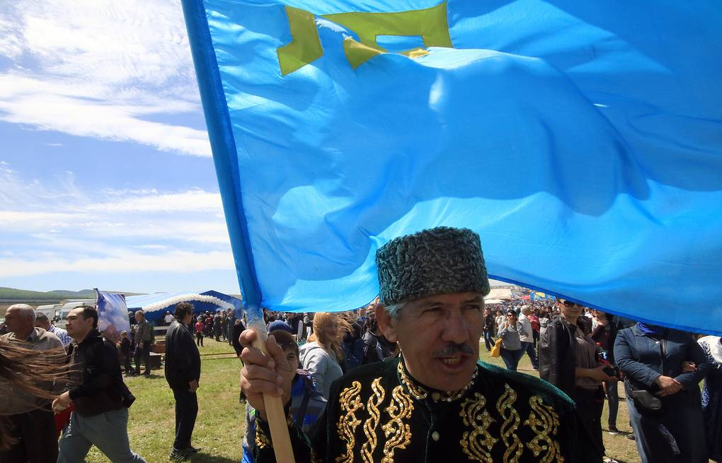 People attend celebrations of Hidirellez, the Crimean Tatar holiday of spring Alexei Pavlishak/TASS