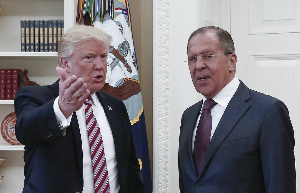 US President Donald Trump and Russian Foreign Minister Sergey Lavrov Alexander Shcherbak/TASS