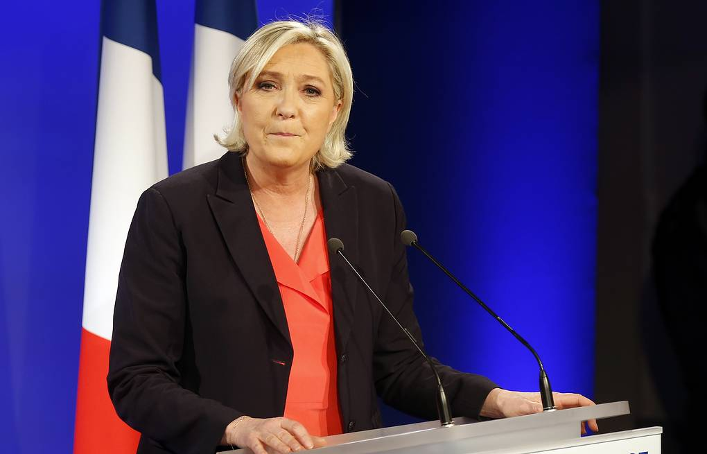 President of the National Front Marine Le Pen AP Photo/Michel Euler