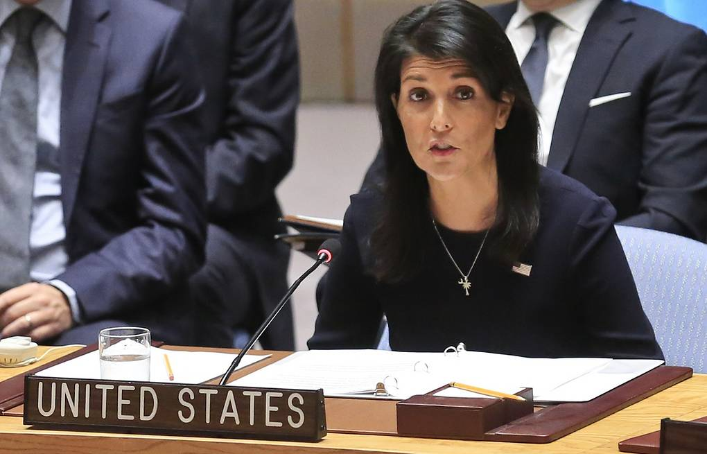 United Nations US Ambassador Nikki Haley  AP Photo/Bebeto Matthews
