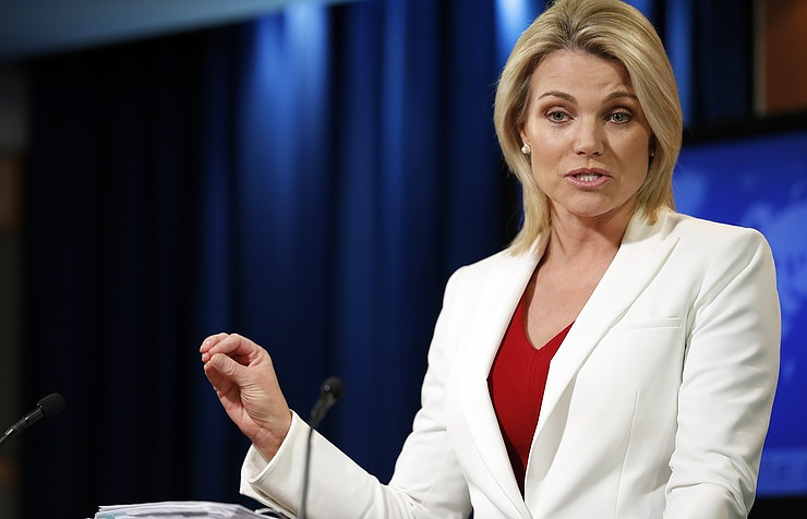 Department of State spokesperson Heather Nauert AP Photo/Alex Brandon