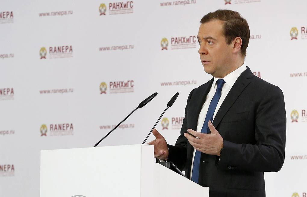 Russia's Prime Minister Dmitry Medvedev Dmitry Astakhov/Russian Government Press Office/TASS