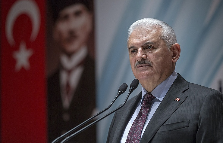 Turkey's Prime Minister Binali Yildirim  Pool Photo via AP