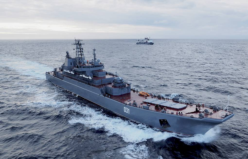 Alexander Otrakovsky large amphibious assault ship  Sergei Fedyunin/Russian Navy Northern Fleet Press Office/TASS