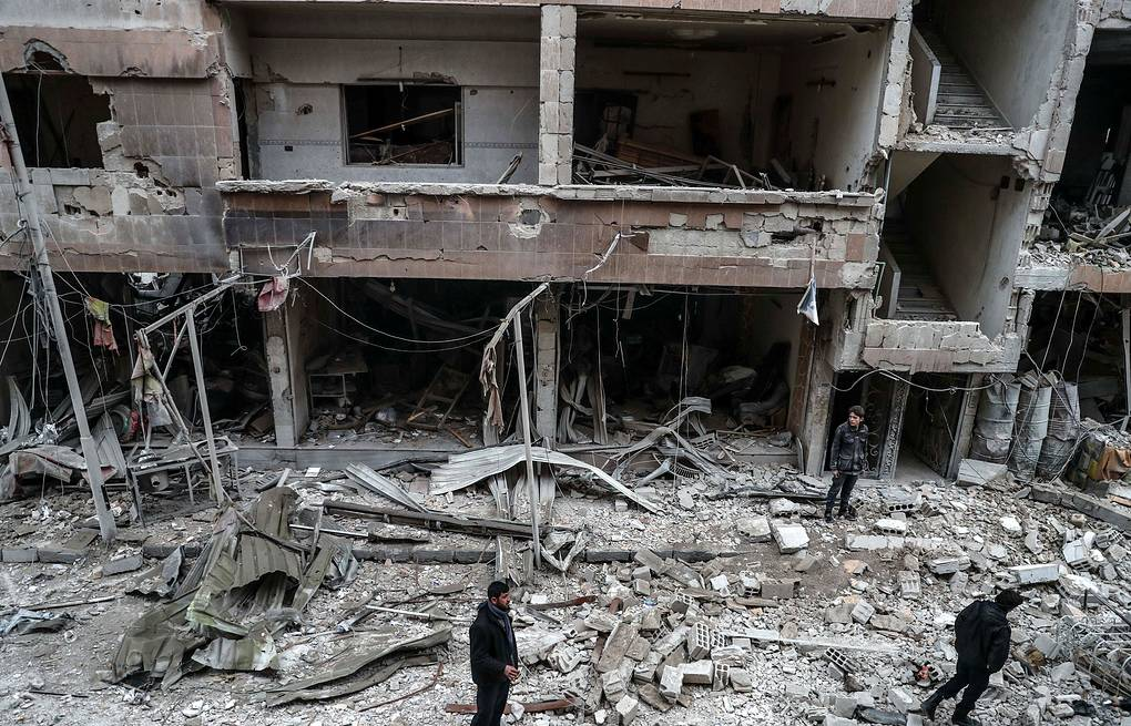 Damaged buildings in Eastern Ghouta, Syria EPA-EFE/MOHAMMED BADRA