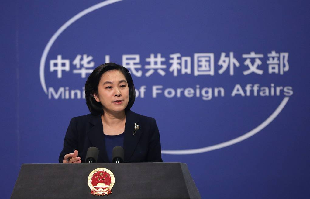 Chinese Foreign Ministry Spokesperson Hua Chunying EPA/HOW HWEE YOUNG