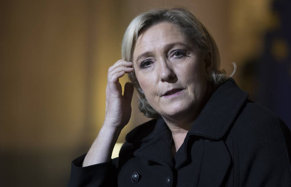 Leader of France's National Front party, Marine Le Pen EPA-EFE/IAN LANGSDON