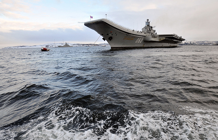 Russia's heavy aircraft carrier Admiral Kuznetsov Lev Fedoseev/TASS