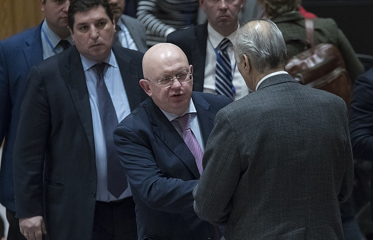 Russia's Permanent Representative to the United Nations Vasily Nebenzya AP Photo/Mary Altaffer
