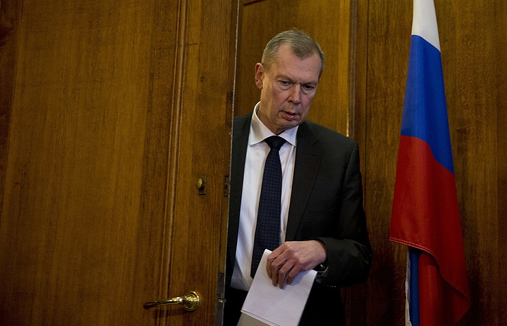 Russia's Permanent Representative to the OPCW Alexander Shulgin AP Photo/Peter Dejong