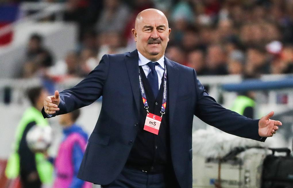 Russian football team's head coach Stanislav Cherchesov  Alexander Demianchuk/TASS
