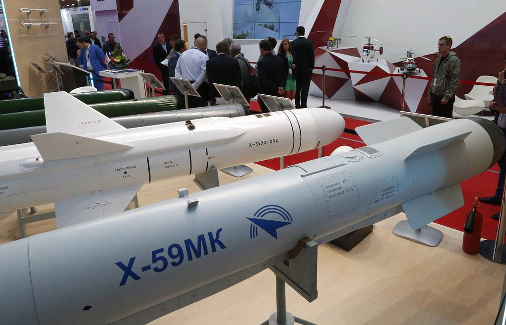 Cruise missiles on display at the Tactical Missiles Corporation stand  Valeriy Matytsin/TASS
