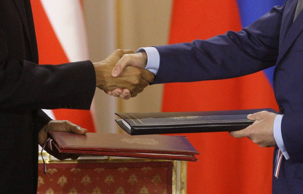 New Strategic Arms Reduction Treaty signed by Russia and US on April 8, 2010 AP Photo/Petr David Josek