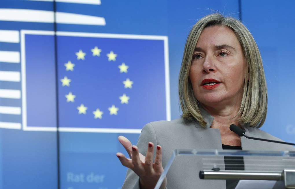 High Representative of the European Union for Foreign Affairs and Security Policy Federica Mogherini  EPA-EFE/OLIVIER HOSLET