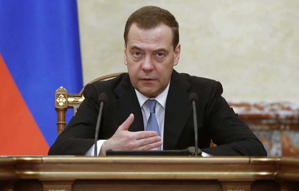 Russian Prime Minister Dmitry Medvedev Dmitry Astakhov/Russian Government Press Office/TASS