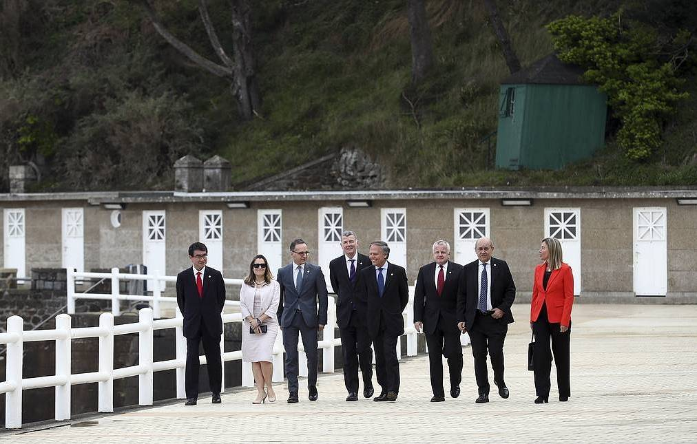 The G7 ministers AP Photo/David Vincent