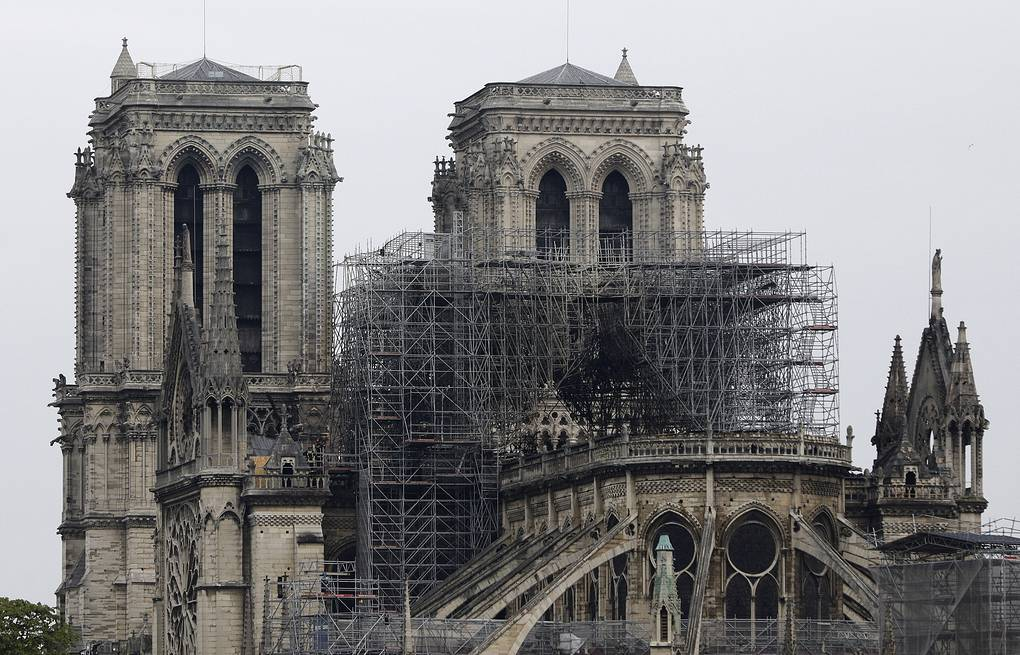 View of the Notre Dame cathedral after the fire in Paris AP Photo/Kamil Zihnioglu