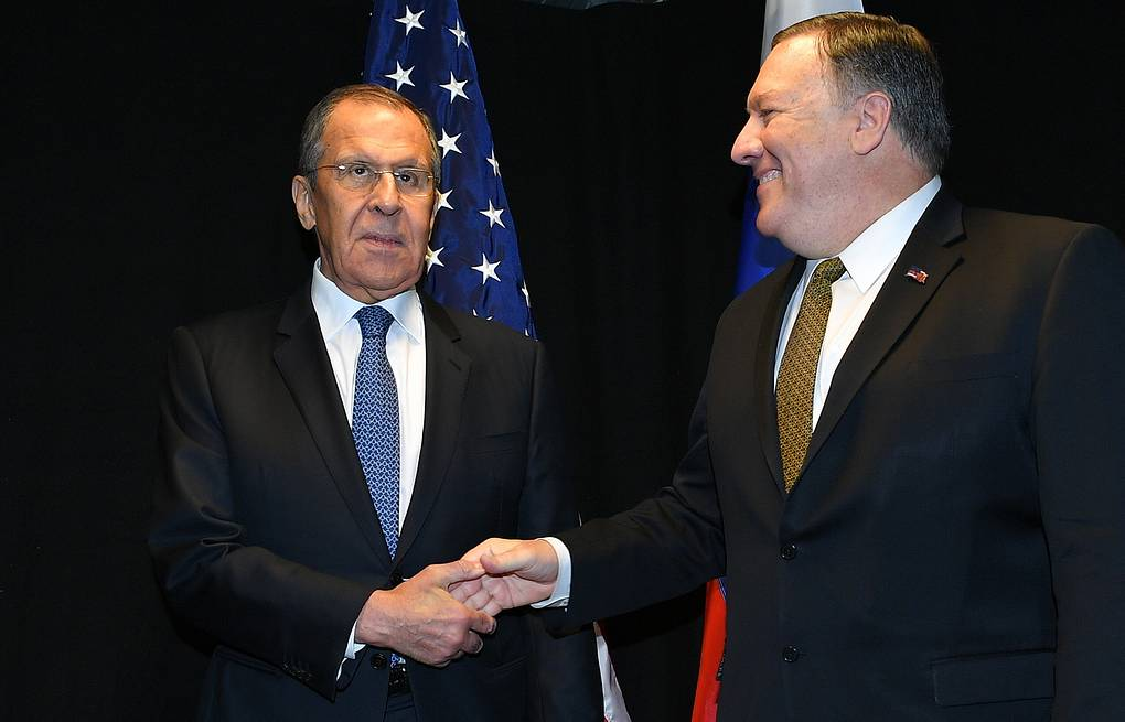 Russian Foreign Minister Sergey Lavrov and US Secretary of State Mike Pompeo  Mandel Ngan/ Pool via AP