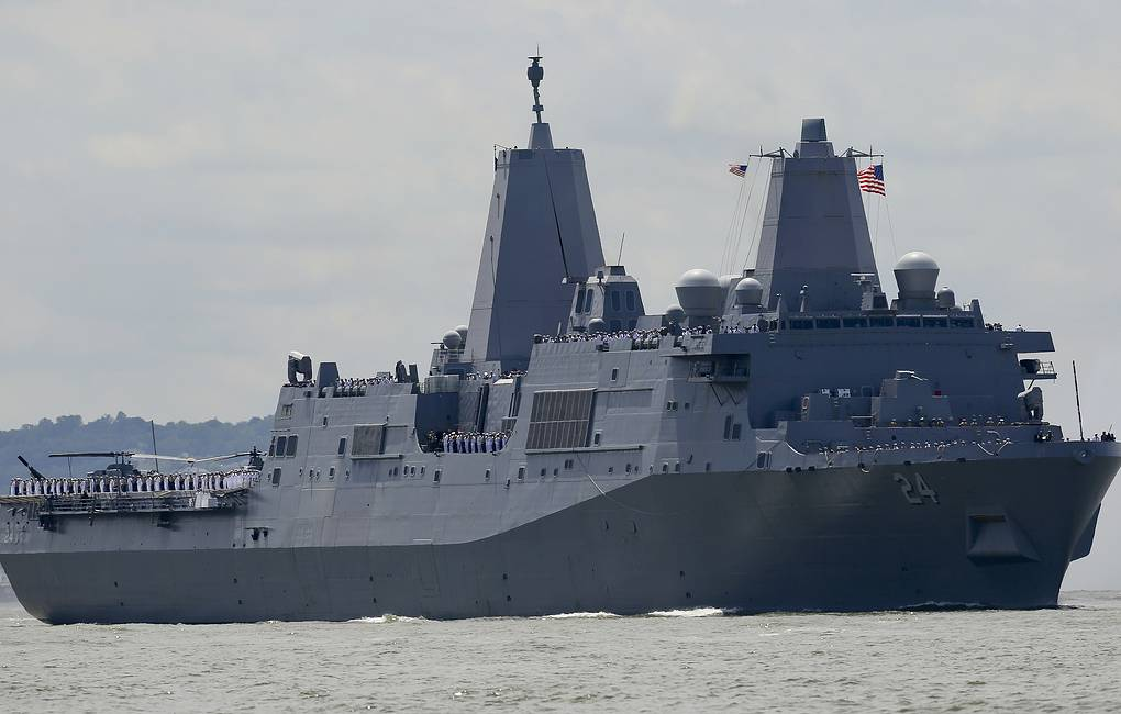 USS Arlington AP Photo/Bebeto Matthews