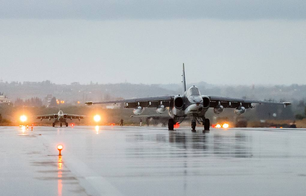 Hmeymim airbase in Syria Vadim Grishankin/Russian Defense Ministry Press and Information Office/TASS