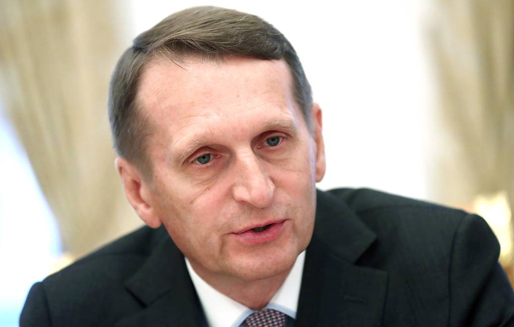 Director of the Russian Foreign Intelligence Service Sergey Naryshkin Stanislav Krasilnikov/TASS