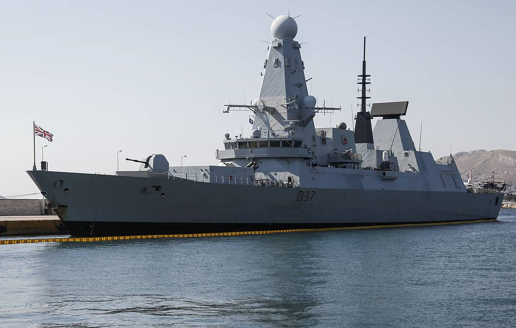 British Royal Navy HMS Duncan destroyer EPA-EFE/YANNIS KOLESIDIS