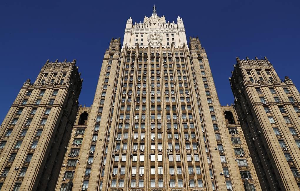 The Russian Foreign Ministry's headquarters in Moscow Anton Novoderezhkin/TASS
