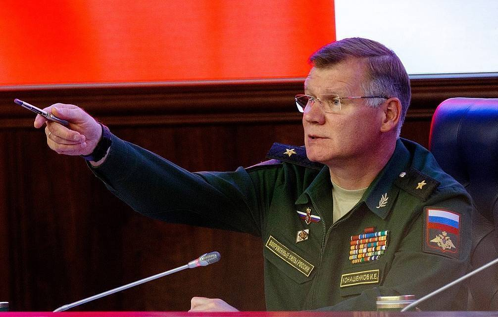Russian Defense Ministry Spokesman Major General Igor Konashenkov Vadim Grishanin/press service of the defense Ministry of the Russian Federation/TASS
