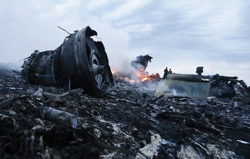 The site of the Malaysia Airlines' Boeing-777 crash, 2014 Zurab Dzhavakhadze/TASS, archive