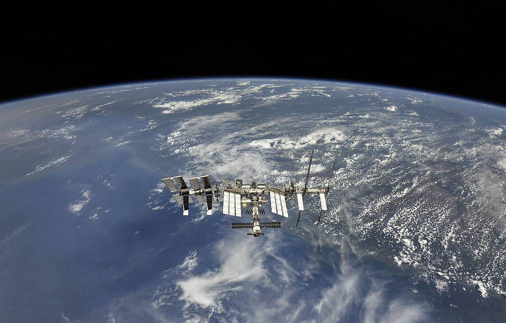 The International Space Station Russian state space corporation Roscosmos