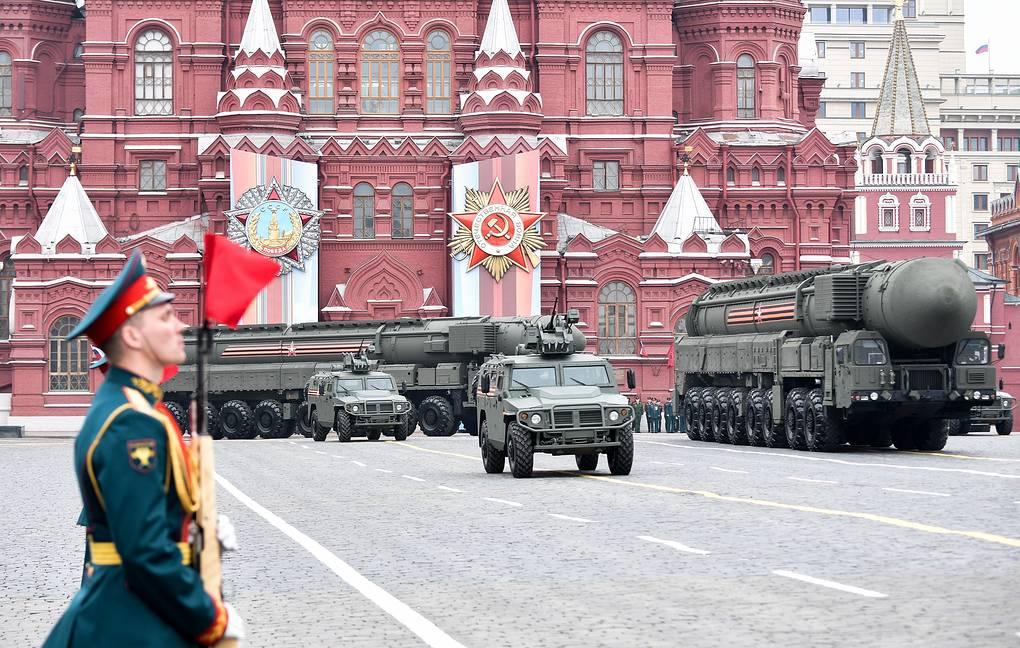 A Victory Day military parade on Moscow's Red Square  Alexei Nikolsky/Russian Presidential Press and Information Office/TASS