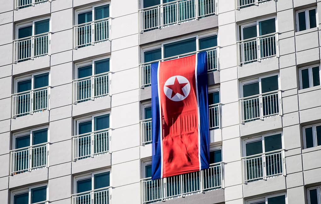 A North Korean flag Sergei Bobylev/TASS