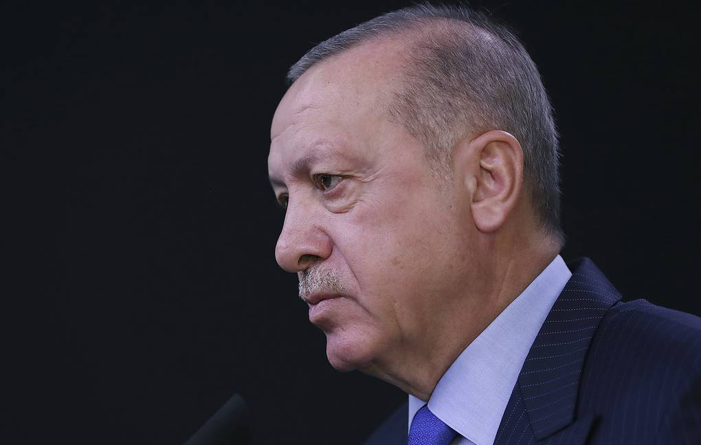 Turkish President Tayyip Erdogan Presidential Press Service via AP, Pool