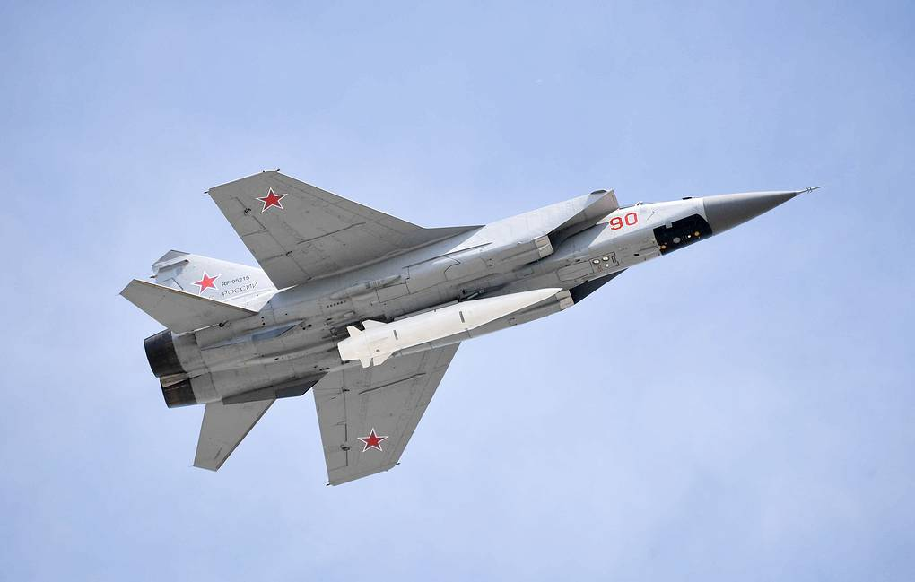 Mig-31K fighter Alexei Nikolsky/Russian Presidential Press and Information Office/TASS