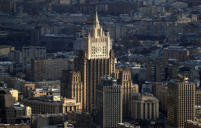 The Russian Foreign Ministry building in Moscow EPA-EFE/MAXIM SHIPENKOV