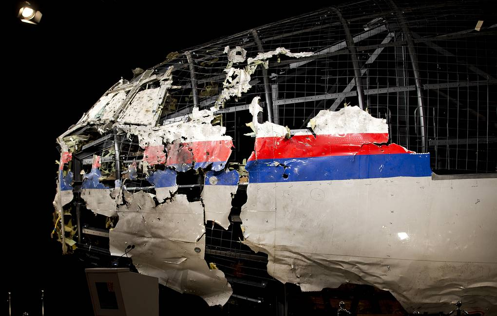 Reconstructed wreckage of Malaysia Airlines Flight MH17  AP Photo/Peter Dejong